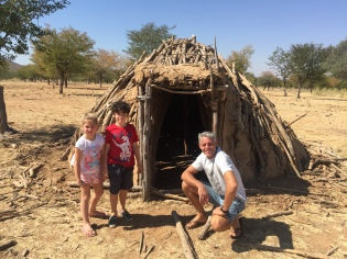 Outside an abandoned Himba hut