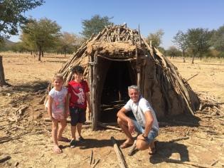 Outside an abandoned Himba hut